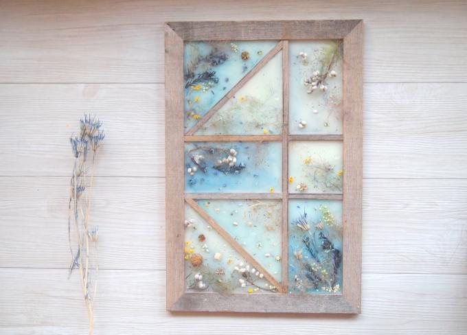窓モチーフのワックスアート