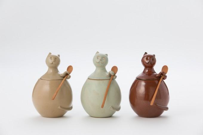 「琉Q(ルキュー)」の「琉Q山猫のやちむんときび砂糖」3種類が並んでいる写真