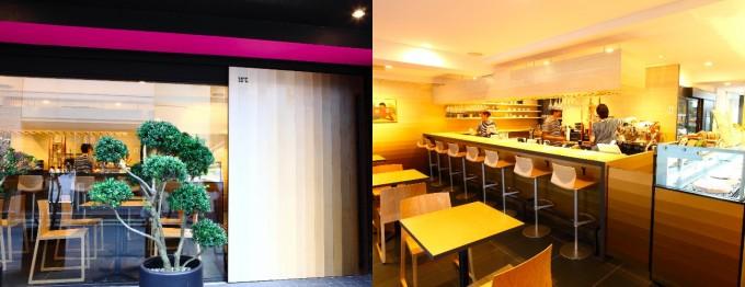 代々木八幡・代々木公園のカフェ15℃の外観と内観