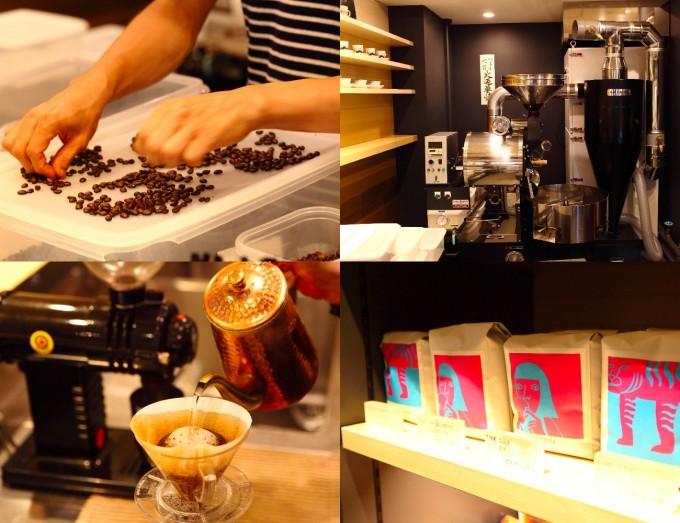 代々木八幡のベーカリー15℃のコーヒー、珈琲マシーン