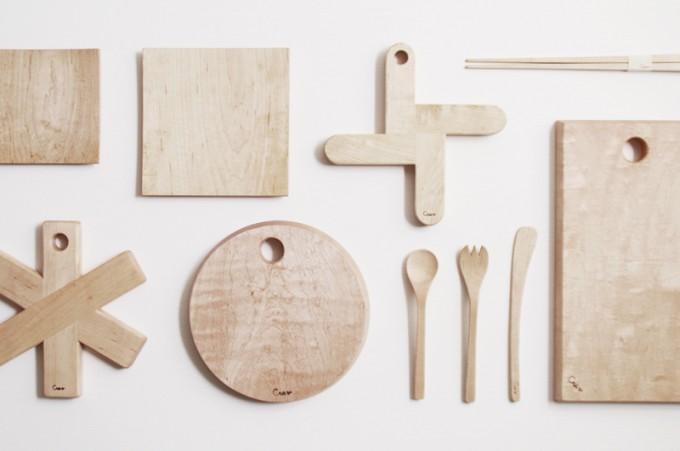 セレクトショップ「KifuL(キフル)」の無垢材のキッチン小物たち