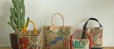 コーヒーの生豆を運ぶ麻袋から作る、「KISSACO(キッサコ)」の世界にひとつだけのデイリーバッグ