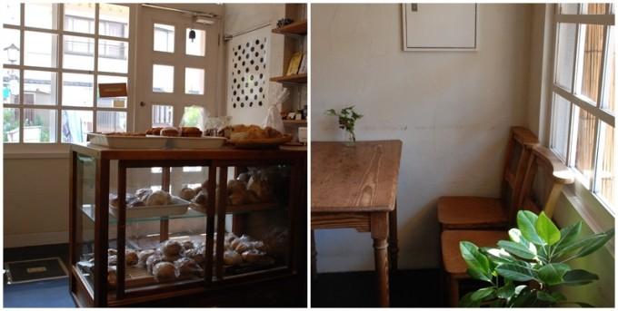 浅草のパン屋「粉花」の店内写真