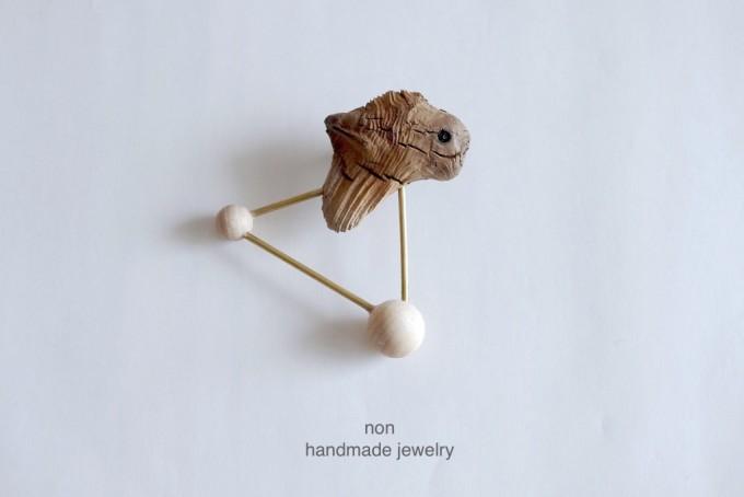 NON handmade jewelry(ノン ハンドメイドジュエリー),流木を使ったアクセサリー