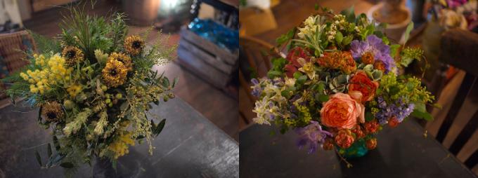 数種類の花を集めた「farver(ファーヴァ)のブーケ2種類