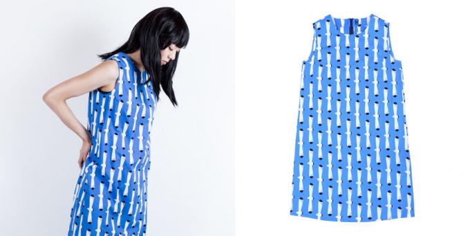 テキスタイルブランド「青衣(あをごろも)」のかもめモチーフのワンピ―ス