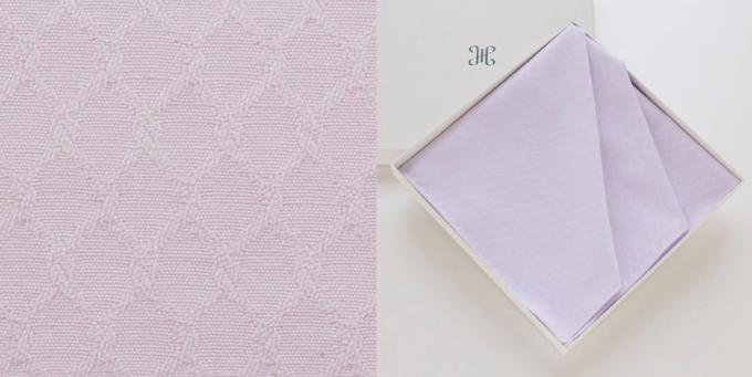 H TOKYO(エイチ トーキョー)の綿ハンカチ(ピンク)