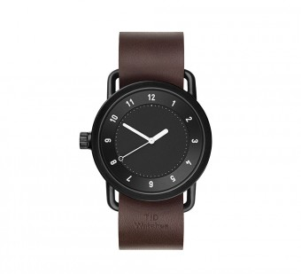 TID Watches(ティッド ウォッチズ)、TID No.1 36 Black / Walnut Leather Wristband