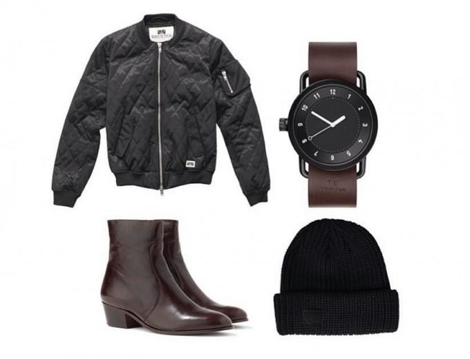 ブラック×ダークブラウンの時計コーディネート、TID Watches(ティッド ウォッチズ)