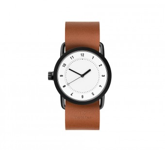 TID Watches(ティッド ウォッチズ)、TID No.1 36 White / Tan Leather Wristband