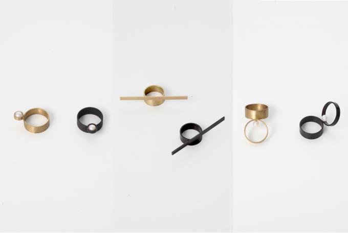 「Oy(オイ)」の真鍮を使用したリング