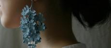 草木染めを施した一本の糸から生まれる「FUJITAMIHO」のクロッシェレースアクセサリー