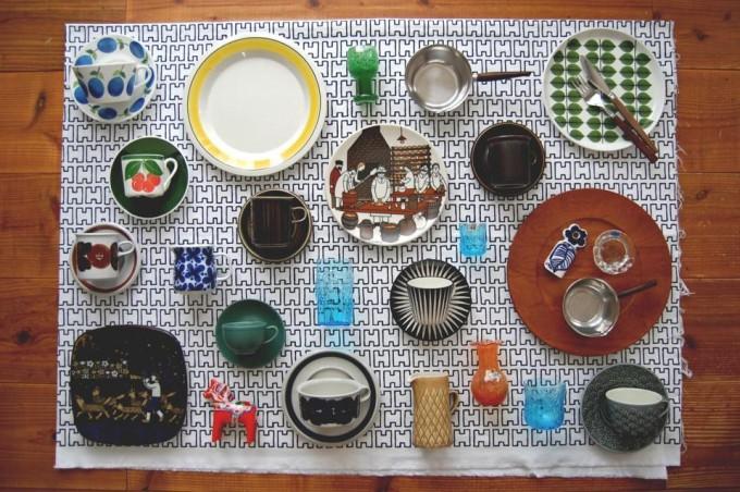 湘南蚤の市に出店するIn Vivo(インビボ)のヴィンテージ食器数点