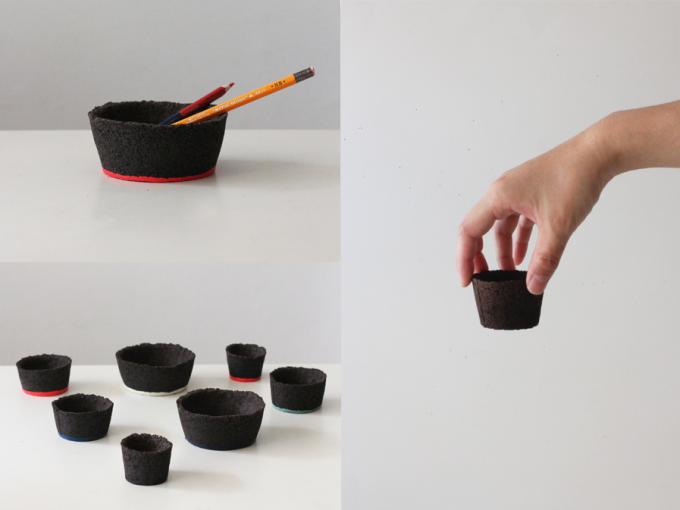 Oy(オイ)のコーヒー粉末で作られた器数種類