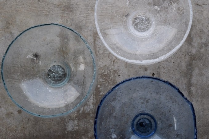 「glass atelier えむに」のガラス作品たち
