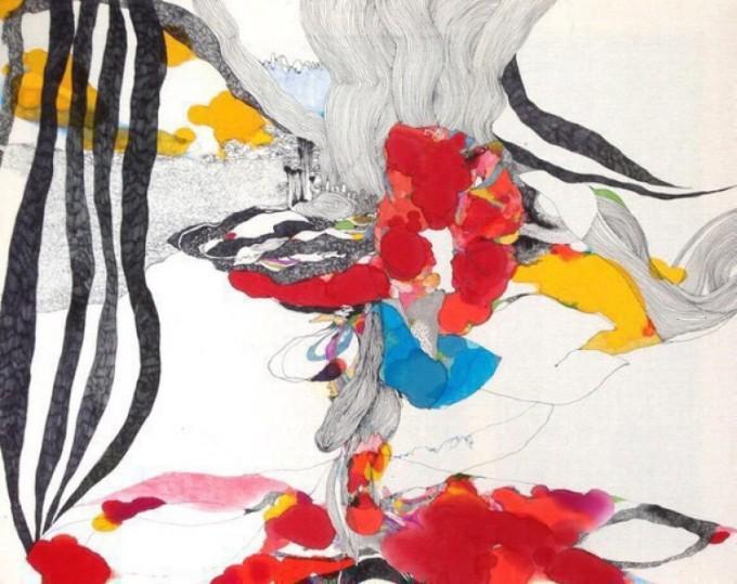 画家「ユイ・ステファニー」さんによる抽象画