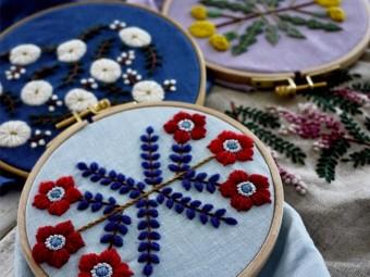 今注目の刺繍作家・樋口愉美子さんによる、優しい世界観あふれる刺繍作品