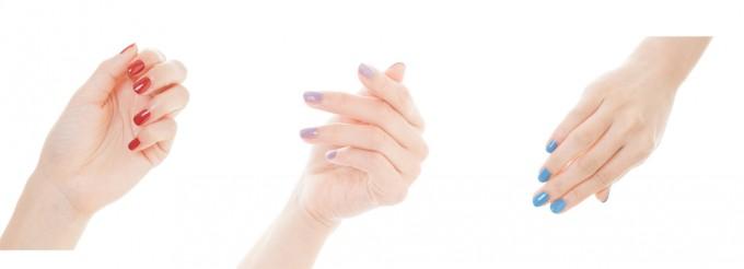 日本人女性の爪によく合う和色「胡粉ネイル」