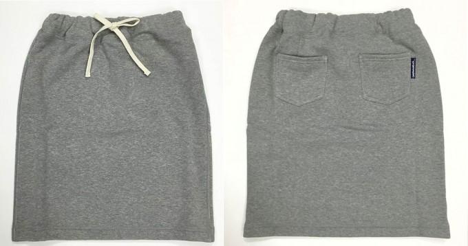 吊り編みで作れらるスウェットスカート