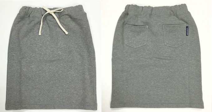 LOOPWHEELER(ループウィラー)の吊り編みスウェットスカート