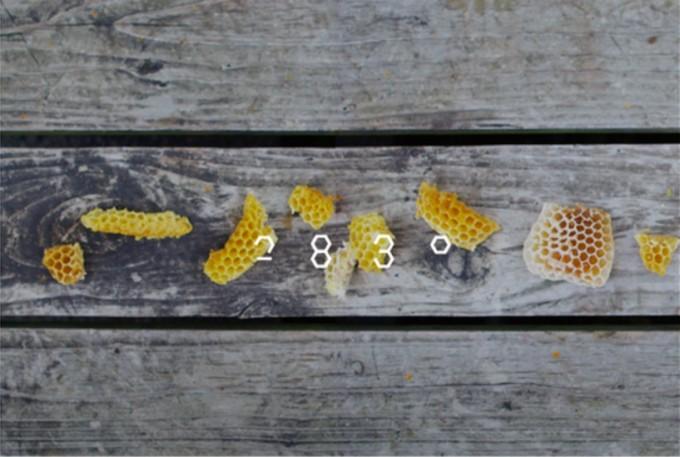 ナチュラルスキンケアコスメ2830のロゴとハチの巣