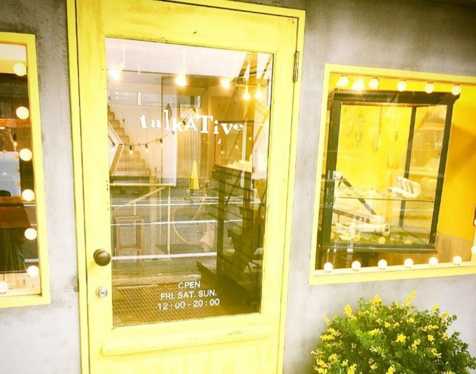 渋谷にあるジュエリーブランド「talkative(トーカティブ)」のオンリーショップ
