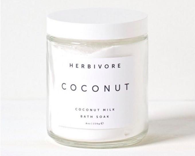 バニラで香り付けしたココナッツココナッツミルク配合の入浴剤