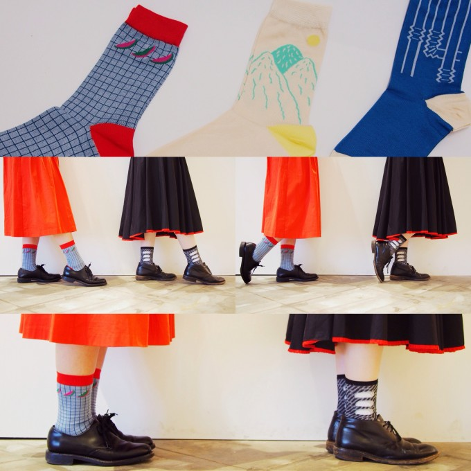 ETCHIRA OTCHIRA(エチラオチラ)のかまぼこ柄靴下