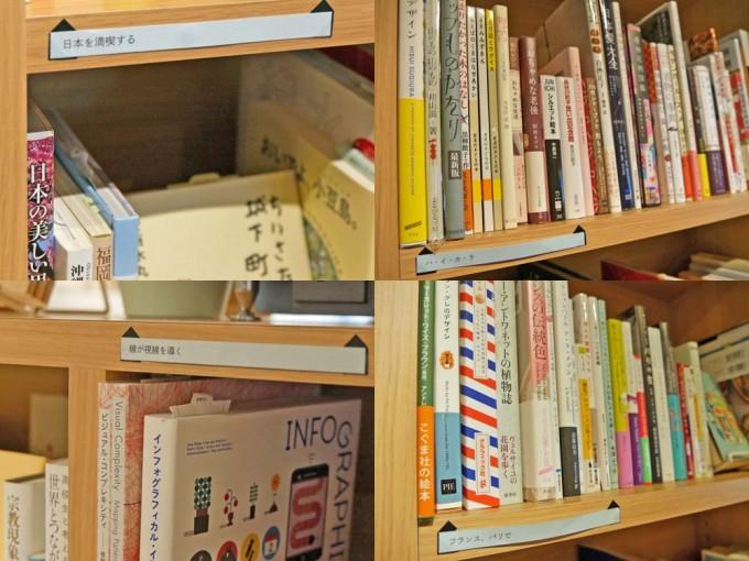 神楽坂「かもめブックス」の本棚と背表紙の写真
