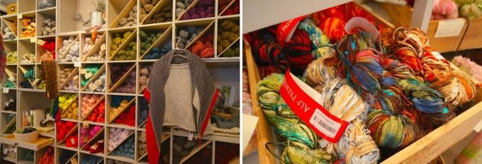 浅草橋にある毛糸専門店Keitoの彩取りの毛糸