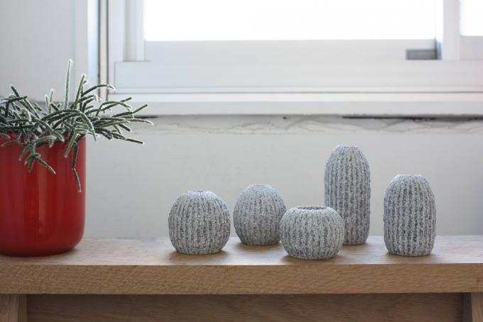 AJI PROJECT(アジプロジェクト)の石材で作ったサボテンのような花器5種類