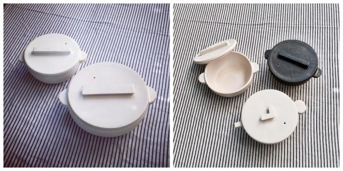 内田可織さんの土鍋「蓋フラット鍋」
