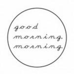 ハンドメイドアクセサリーブランド「good morning,morning.(グッドモーニング モーニング)」のロゴ
