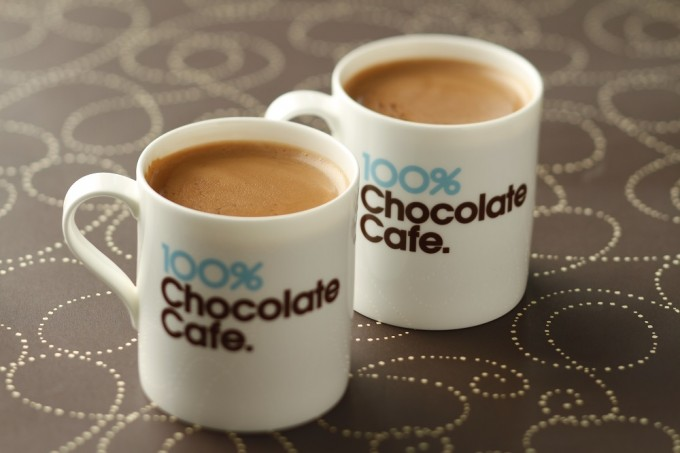 「100%チョコレートカフェ」で人気のホットチョコレート