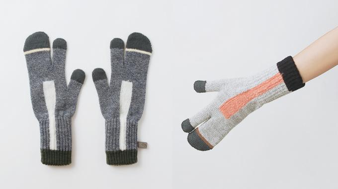TRICOTÉ(トリコテ)のニット手袋と着用画像