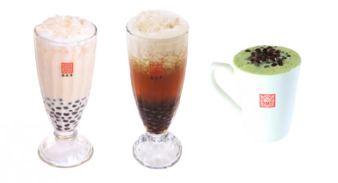 春水堂(チュンスイタン)のタピオカミルクティーなどのドリンクメニュー3種類
