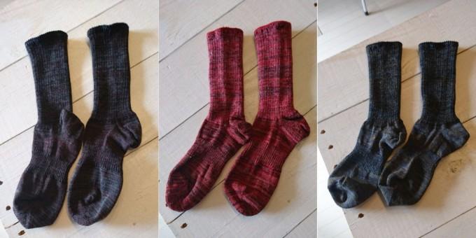 ponte de pie !(ポンテデピエ)の3色糸ミックス靴下「Tres」