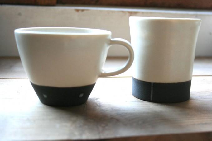 太郎工房のコーヒーカップとフリーカップ