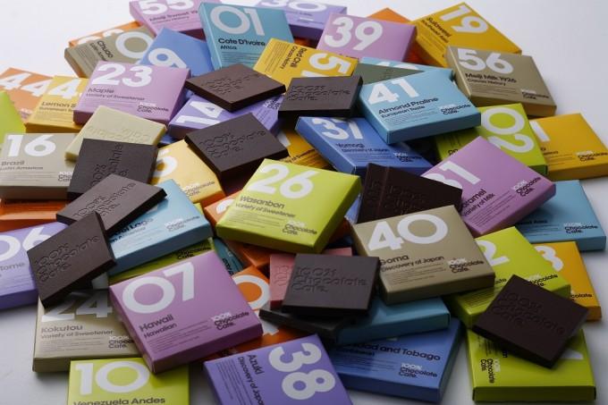 「100%チョコレートカフェ」の56種類もあるチョコ