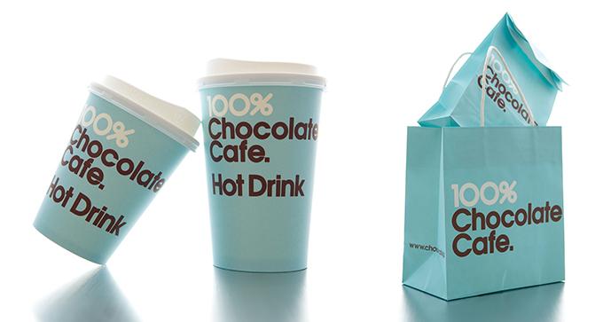 「100%チョコレートカフェ」のホットチョコレート