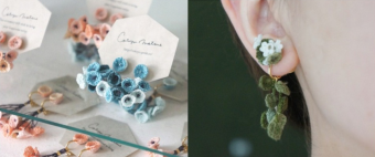 一本の糸から生まれる、やわらかなお花たち。「cotoyo matsue」のアクセサリー