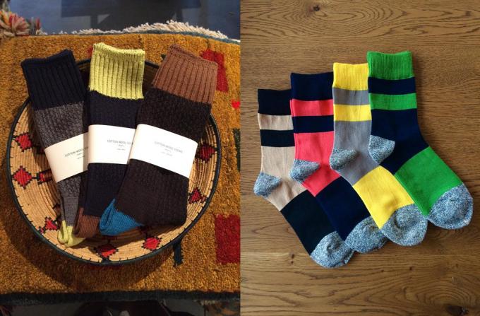 ニットデザインにしなの靴下数種類