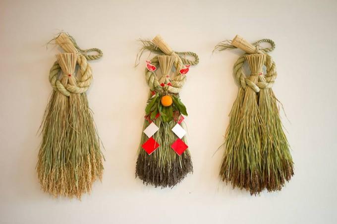 しめ飾りプロジェクト「ことほき」のお正月飾り
