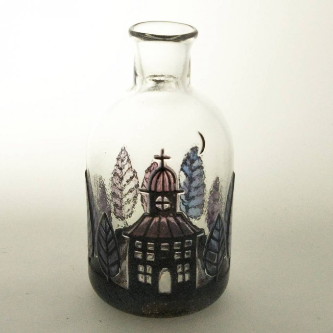 茨城県笠間のガラスギャラリー「Glass Gallery SUMITO」の岩沢睦子さんのkirie一輪挿しの画像