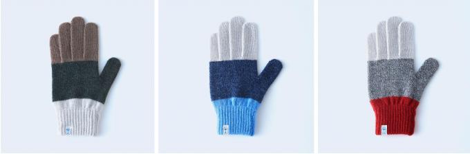 手袋ブランドtet.(てと)の羊毛手袋「three tones」
