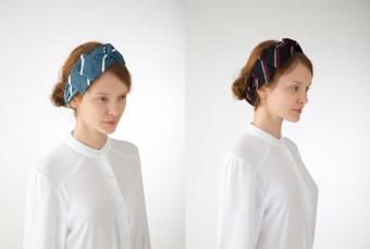 ヘアアレンジに手織りの新たな風合いを。メンズ雑貨ブランド「KUSKA」が発表したヘアアクセサリー