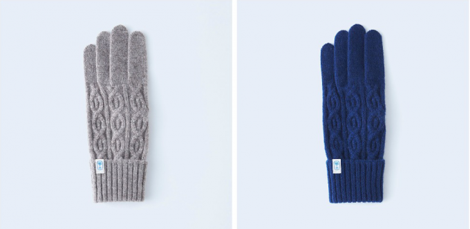 手袋ブランドtet.(てと)のカシミア手袋「nawa」