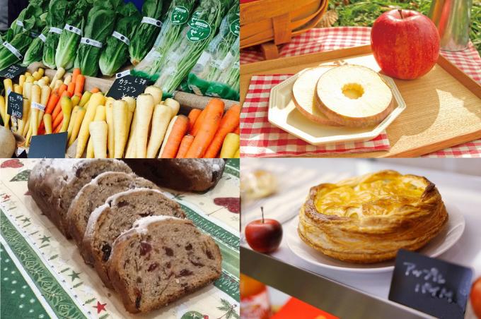 2016年の横浜北仲マルシェに出店するお店の野菜やお菓子など数種類