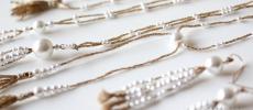 MEG MIYANO(メグ ミヤノ)のゴールド糸と樹脂パールを組み合わせたネックレス数種類