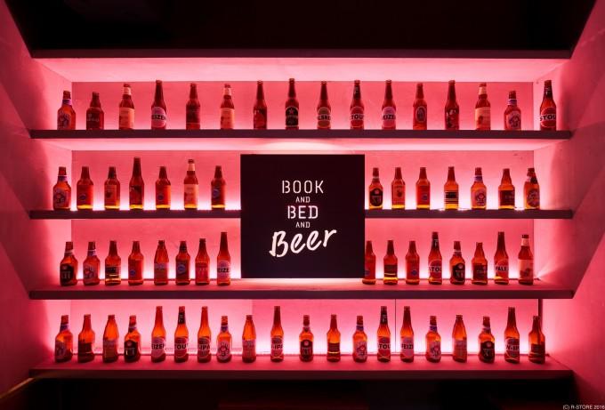 BOOK AND BED TOKYO(ブックアンドベッドトーキョー)京都店のビールを提供するバースペース